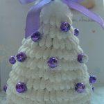 Поделка к новому году из ватных палочек- ёлка