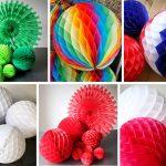 Разноцветные бумажные шарики