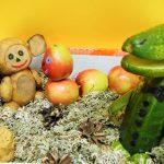 Чебурашка из овощей