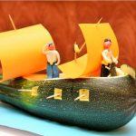 Лодка из овощей