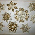 Снежинки из макарон