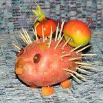 Ёжик из картошки