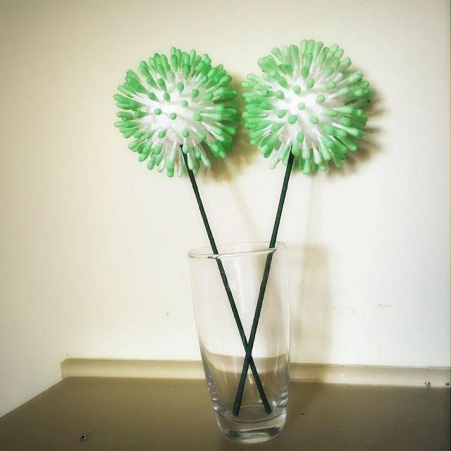 Цветы из палочек