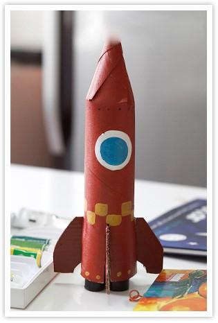 1.Ракета из картонной втулки