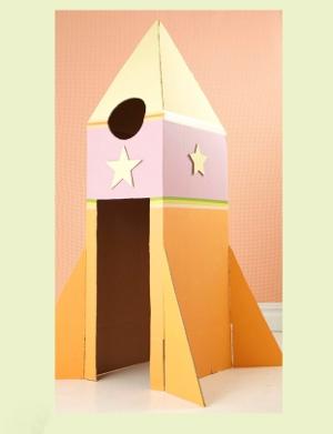 Ракета из коробок