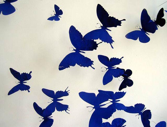 Бабочки из баночной жести