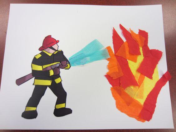 Фото 6. Аппликация «Тушение пожара»