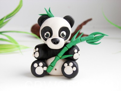 Фото 5. Пластилиновая панда -
