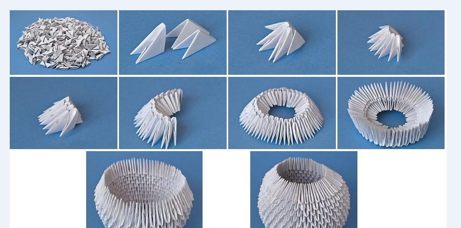 удавалось оригами из модулей для начинающих в картинках пошагово живет самой