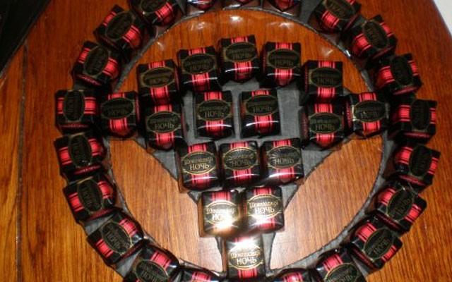 поделки из конфет детям своими руками