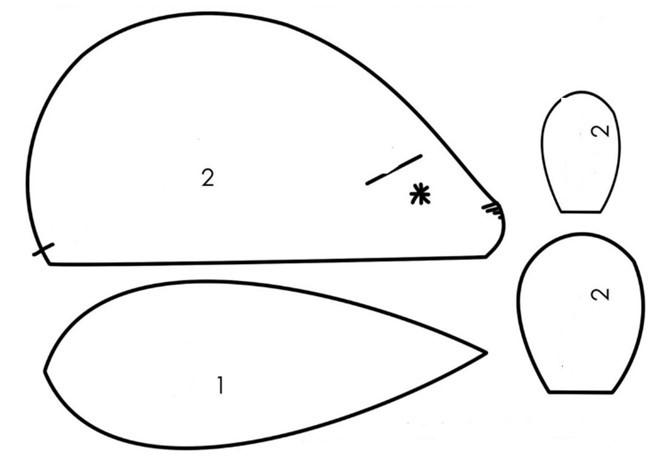 поделка выкройка мышки