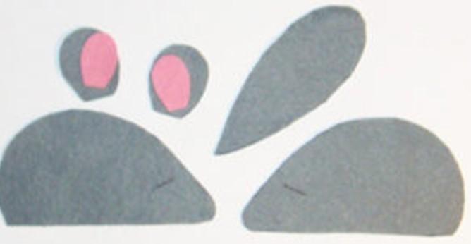 схема мышки из фетра