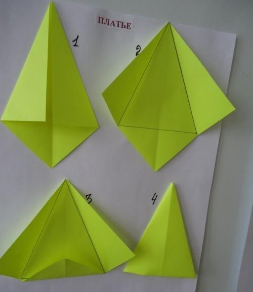 оригами из бумаги мышка пошаговая
