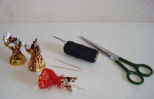 поделки из конфет пошагово