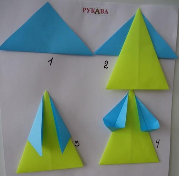 мышка оригами для детей простая