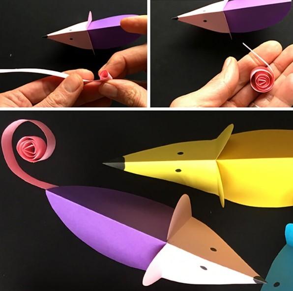 поделки из пластилина мышка