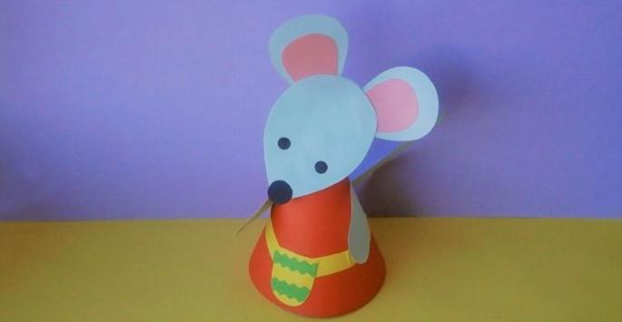 поделка мышь из бумаги