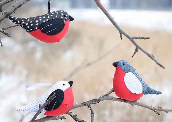 сделать птичку снегиря