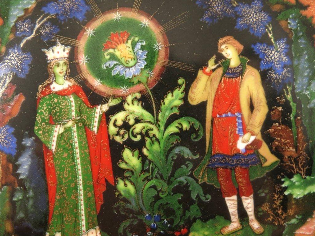 картинка каменного цветка из сказки помещений