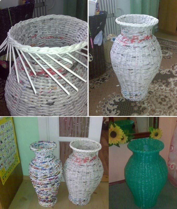 плетеная ваза своими руками