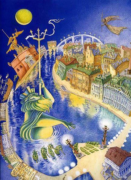 петербургская сказка иллюстрации