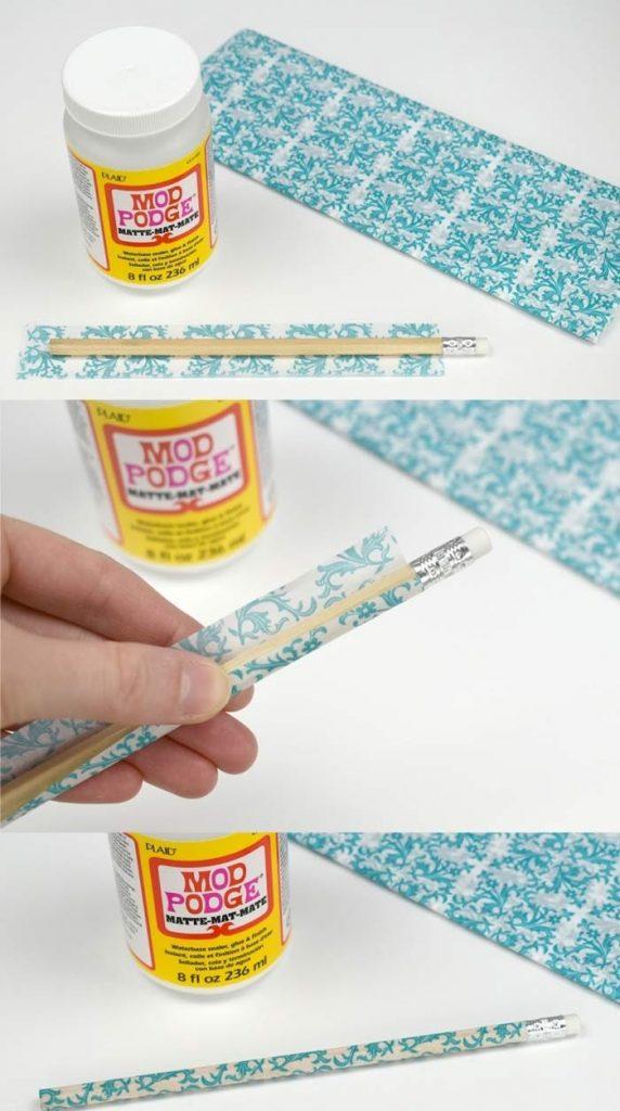 поделки из бумаги из карандаша