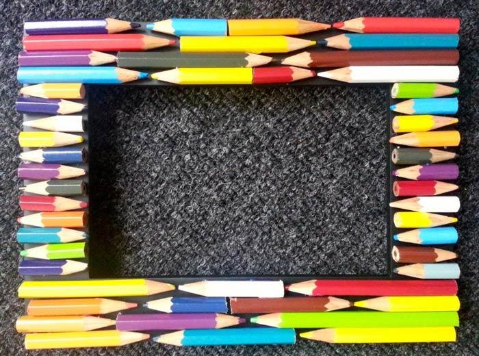 рамка для фото из карандашей