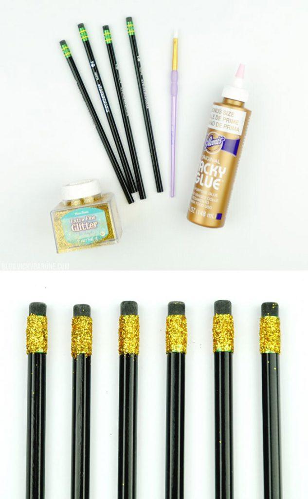 блестящие карандаши декор