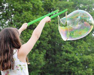 как сделать большие мыльные пузыри