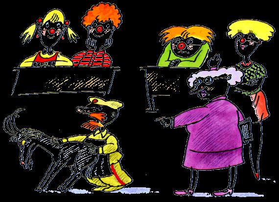 школа клоунов картинки