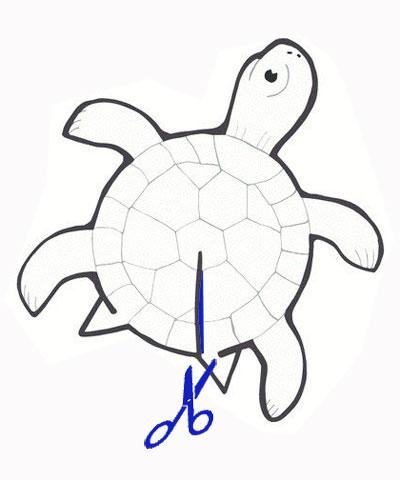 черепаха сделать своими руками