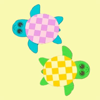 черепаха поделка схема