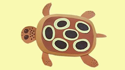черепаха с ребенком