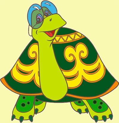 раскрашивание черепахи
