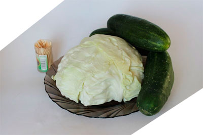 сделать черепаху из овощей