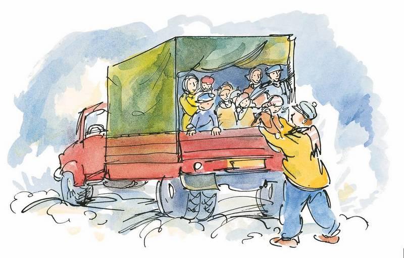 Папа, мама, бабушка, 8 детей и грузовик