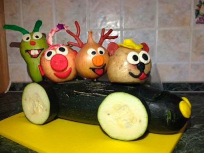 смешарики из овощей поделки своими руками