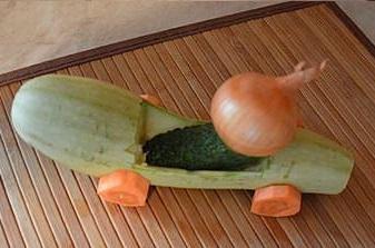 поделка из кабачка чиполлино