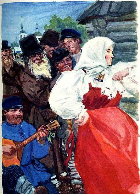 иллюстрация к сказке мороз красный нос