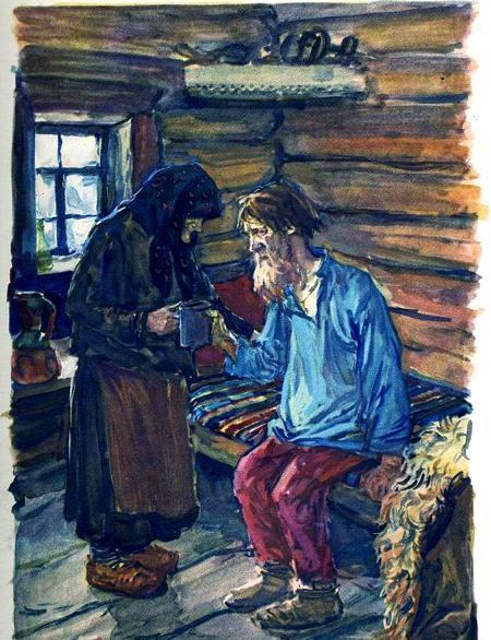 иллюстрация к поэме мороз красный нос