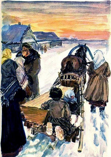 иллюстрация мороз красный нос некрасов