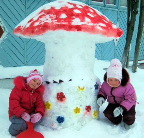 поделки из снега