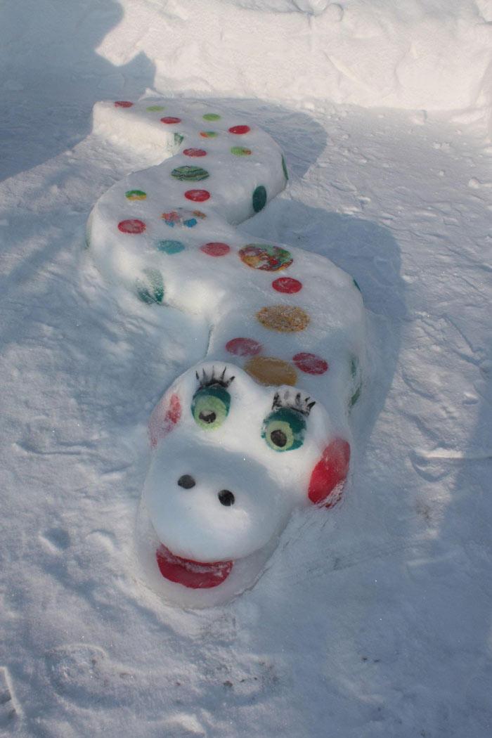 снежные поделки в детском саду
