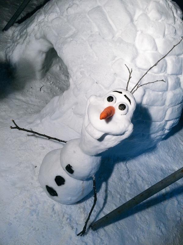 новогодние поделки из снега