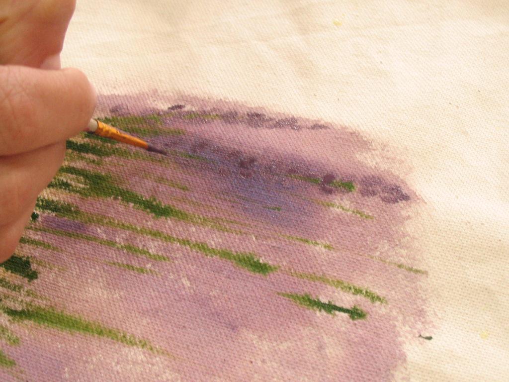 как нарисовать лаванду маркерами