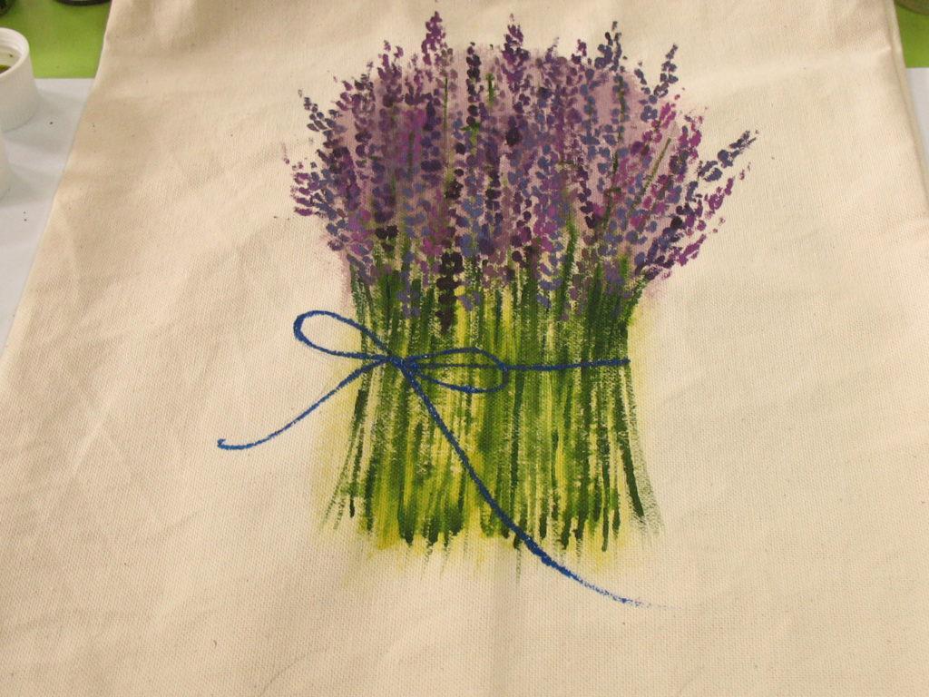 как нарисовать лаванду акриловыми красками