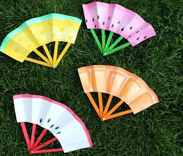 летние поделки веер из бумаги