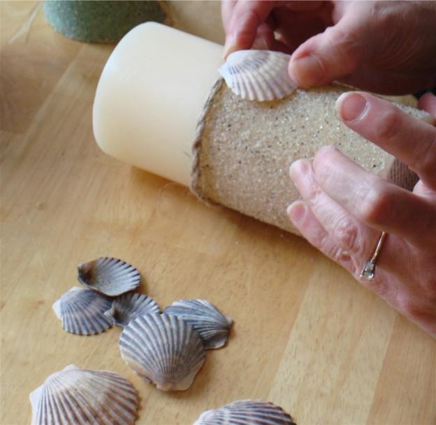 поделка из песка для детей свечка