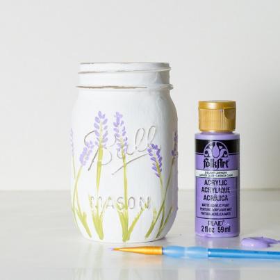 нарисовать лаванду красками