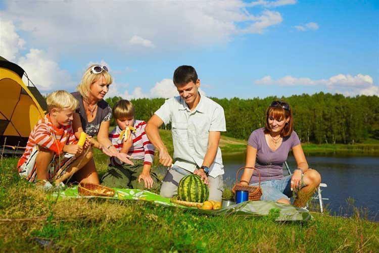 пикник с детьми на природе